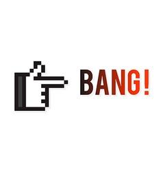 Hand Gun vector image vector image