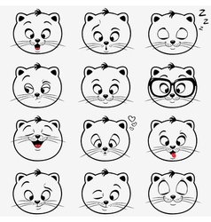 kittens emotions vector image vector image
