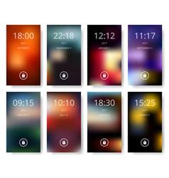 set of modern user interface ux ui screen vector image