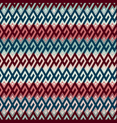 tribal ethnic multicolor seamless pattern vector image