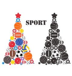 Unusual Christmas Tree Sport vector image vector image