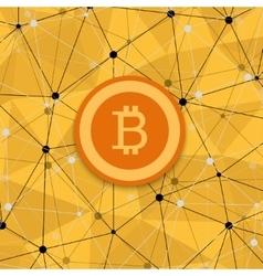 vetor modern concept of bitcoin new money vector image