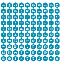 100 gas station icons sapphirine violet vector