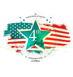 4th july independence day card vector image