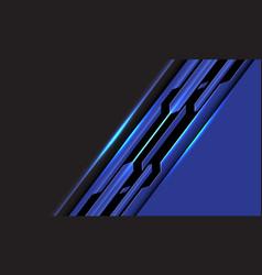 Abstract blue black line circuit cyber slash grey vector