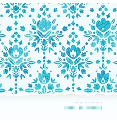 Abstract Flower Damask Horizontal Torn Seamless vector image
