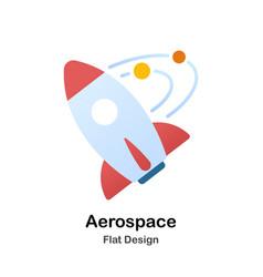 Aerospace flat vector