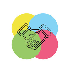 agreement handshake icon vector image