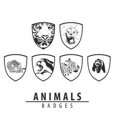 animal emblem on white background vector image