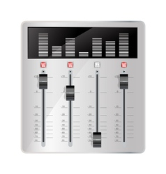 Audio mixing panel vector