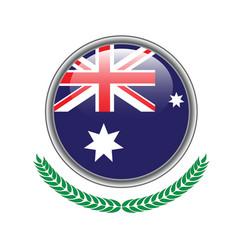 australia flag button australia flag icon vector image