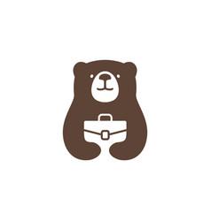 Bear job logo icon vector