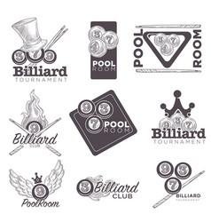 billiard or poolroom logo retro sketch vector image