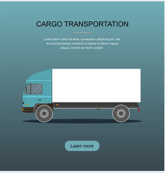 blue cargo delivery truck vector image