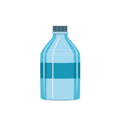 Blue plastic bottle for pure drink icon vector
