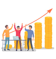 business partners success financial growth vector image