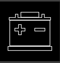 car battery it is icon vector image