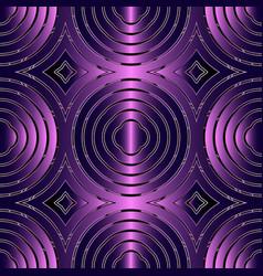 Circles abstract 3d seamless pattern vector