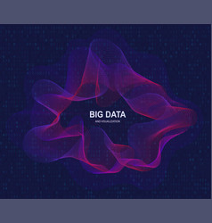 Circular visualization big data artificial vector