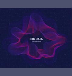 circular visualization of big data artificial vector image