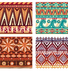 Color seamless tribal texture vector