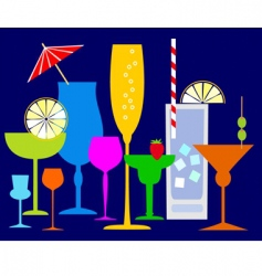 colorful coctails vector image vector image