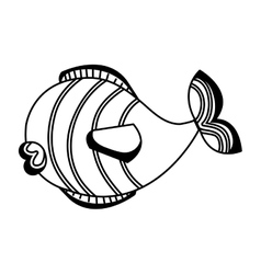 cute fish isolated icon vector image