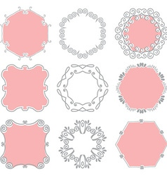 Cute hand drawn frames vector image