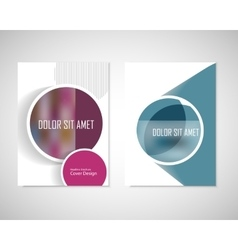 Dirty circles with text on brochure for your ideas vector
