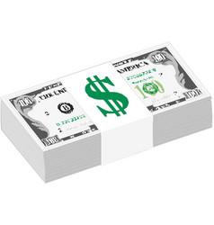 dollars packaging banknotes retro vector image