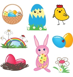 Easter card with two hand drawn eggs vector image