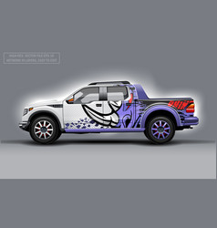 Editable template for wrap suv with abstract rhino vector