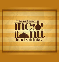 Food and drinks retro restaurant menu vector