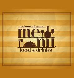 food and drinks retro restaurant menu vector image