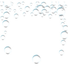 frame for processing of transparent bubbles vector image