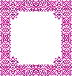 Frame with abstract pink and violet patterns vector