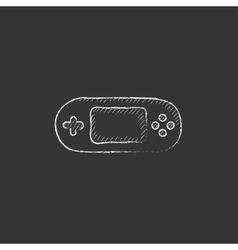 Game console gadget Drawn in chalk icon vector