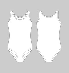 Girls bodies wear on gray background lady body vector
