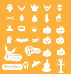 Halloween icon sets vector