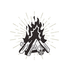 Hand drawn campfire sunbursts vector