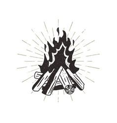 hand drawn campfire sunbursts vector image