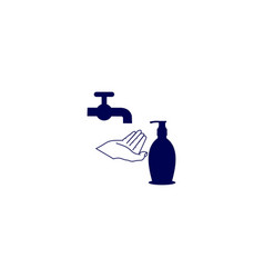 Hand washing hygiene with soap vector