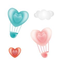happy valentines day heart symbols set vector image