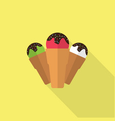 ice cream icon set of great flat icons with vector image