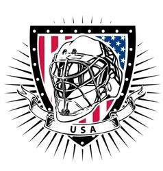 ice hockey helmet shield USA vector image