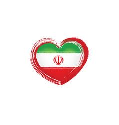 Iran flag on a white vector