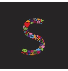 Letter S vector image