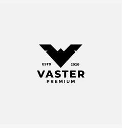 Letter v wing simple silhouette logo design vector