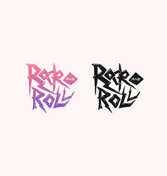 lettering or phrase badge rock and roll music vector image