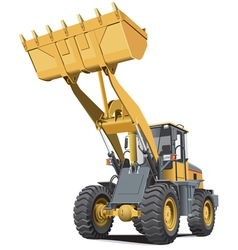 light brown front end loader vector image
